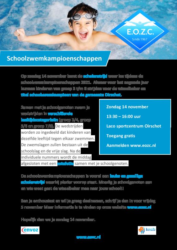 Schoolzwemkampioenschappen 2021